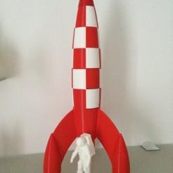 Objet 3D gratuit Fusée Tintin, dforlithe
