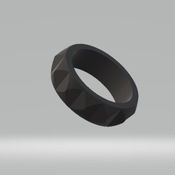 3D printer files faceted ring, tropez