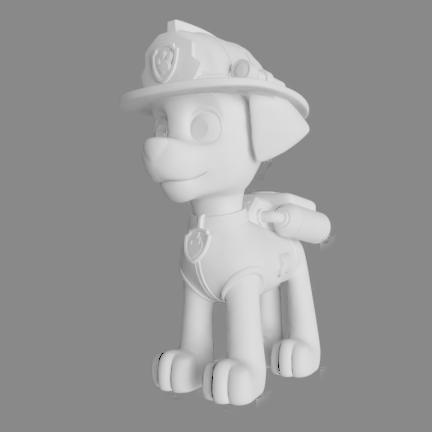 marshall bombero.png Télécharger fichier STL Patrouille de patrouilles de Marshall Paw • Modèle à imprimer en 3D, pablog673