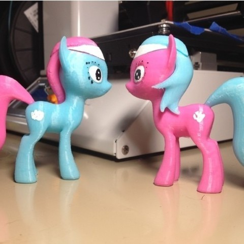 Free 3D model MLP Lotus et Aloe Pony, arcandg