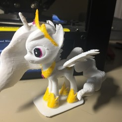 Download free STL files MLP Pony Celestia, arcandg