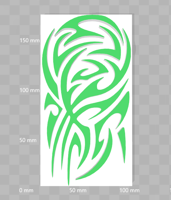 Capture grand tribal.PNG Download STL file Tattoo Tribal • 3D printable template, nicolas_mcfr