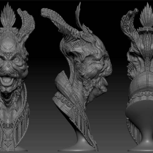 Talumihl_Master_of_Festivities_Zbrush_Screencap_001.jpg Download free STL file Talumihl - Master of Festivities • 3D print design, bendansie