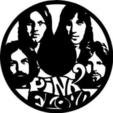 Download free STL files pink floyd clock 350 mm diameter, didier69