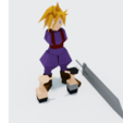 Free 3d printer files Cloud Strife, laforge3d