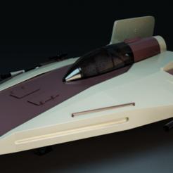 Imprimir en 3D A-Wing Star Wars, laforge3d