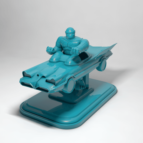 Download 3D printer templates the thing on batmovile, RolandH