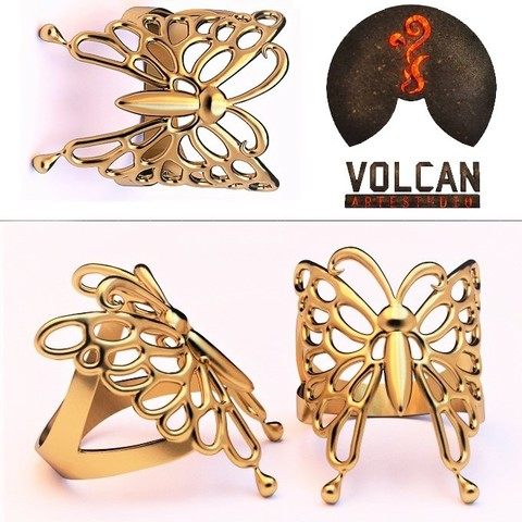 Impresiones 3D butterfly ring, RolandH