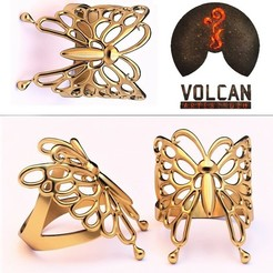 Download STL butterfly ring, RolandH
