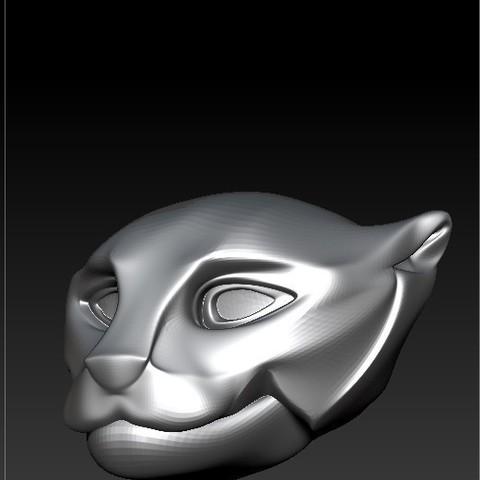 Descargar archivos STL pantera head 3D , RolandH