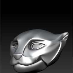 3D printing model panther head 3D, RolandH