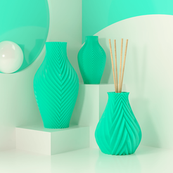 02.png Download STL file Kit Aroma + Vase • 3D print template, Ocean21