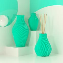 Modelos 3D para imprimir Kit Aroma + Jarrón, Ocean21