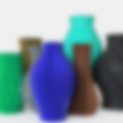 3D printer files 7 Vases to sell, Ocean21
