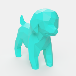 Download 3D printing designs Poodle Toy Low Poly, Ocean21