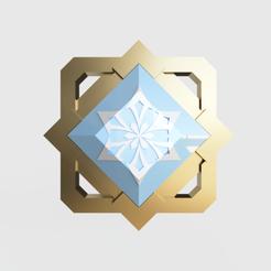 Cryo Liyue front Cosplay.png Télécharger fichier STL Cryo Element Liyue - Impact de Genshin • Objet à imprimer en 3D, Geandro_Valcorte