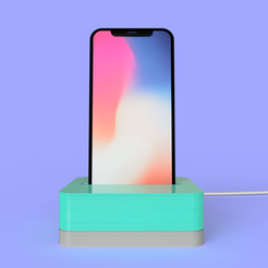 Idock_2019-Jan-14_04-32-43PM-000_CustomizedView2536557766_png.png Download free STL file Dock Iphone X • 3D printable design, Geandro_Valcorte