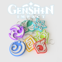 Chaveiros_Genshin_impact_1ng.png Download STL file Genshin Impact key chains  • Design to 3D print, Geandro_Valcorte