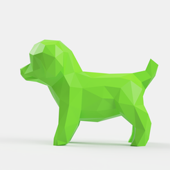 lulu_v1_2018-Aug-31_09-29-30PM-000_CustomizedView4188292561_png.png Download STL file Poodle Toy Low Poly • Design to 3D print, Geandro_Valcorte