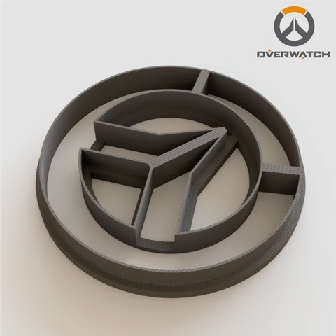 Free 3D printer files Overwatch Cookie Cutter, Ocean21