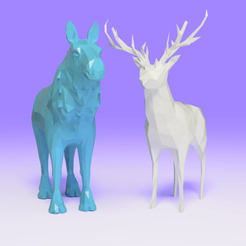 3D print files deer and moose, Ocean21