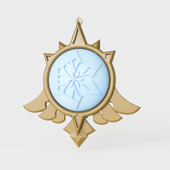 Cryo 1 - genshin impact.png Download STL file AMULET CRYO MONDSTADST - GENSHIN IMPACT • 3D printing object, Geandro_Valcorte