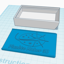 Download free 3D printer files Customisable box for EU business cards, billyzkiss