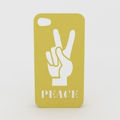 Download STL Peace Hand Iphone Case 4 4s, Custom3DPrinting