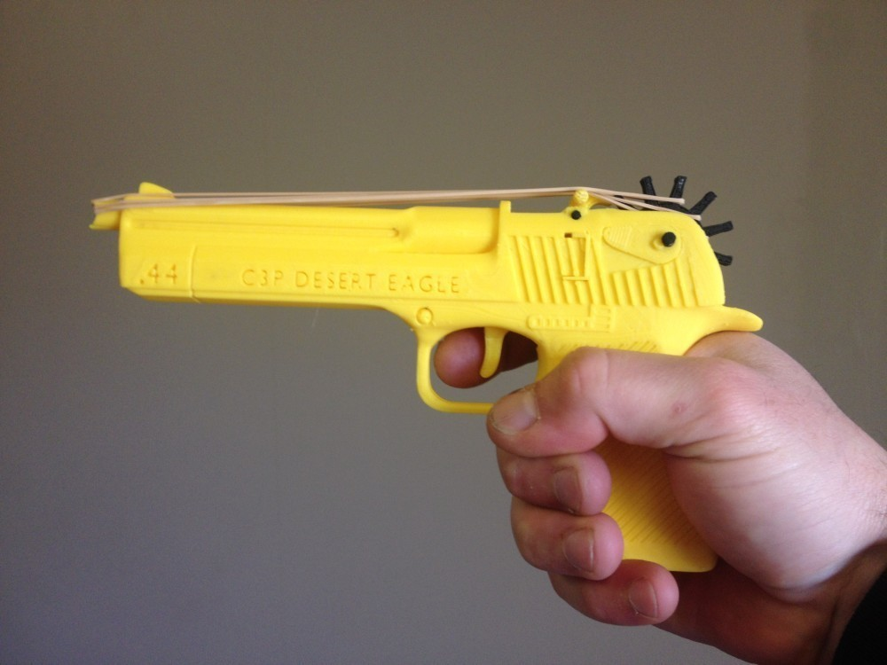 deagle real 1.jpg Download STL file Desert Eagle Rubber Band Gun • 3D printing model, Custom3DPrinting