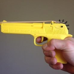 3D print files Desert Eagle Rubber Band Gun, Custom3DPrinting