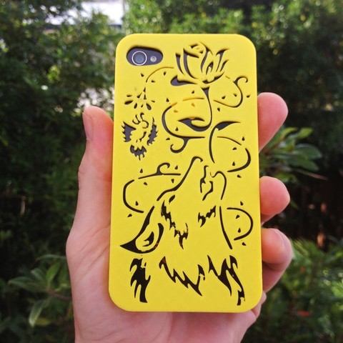 Wolf-Iphone-Case-R.jpg Download STL file Howling Wolf Iphone 5 5s • 3D printer object, Custom3DPrinting
