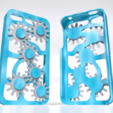 3D printer files Gear Cogs Mobile Iphone Cover Case 4 4s, Custom3DPrinting