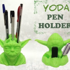 yoda-pen-holder-fb.jpg Download STL file Yoda Pen Holder • 3D printable object, Custom3DPrinting