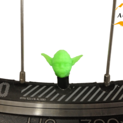 Fichier imprimante 3D Yoda Bicycle Tyre Caps Bike Car Van Truck Valve Valve Wheel Star Wars Star Wars, Custom3DPrinting