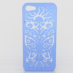 Download STL file Butterfly Iphone Case 5 5s, Custom3DPrinting