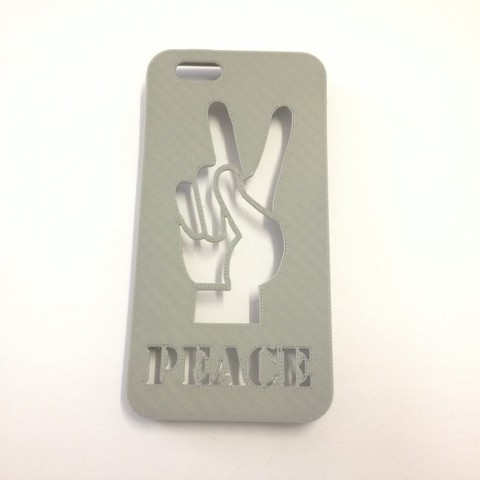 Peace Hand Iphone Case real.jpg Download STL file Peace Hand Iphone Case 6 6s • 3D printer template, Custom3DPrinting