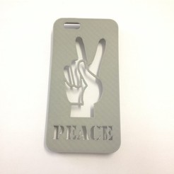 Download STL file Peace Hand Iphone Case 6 6s, Custom3DPrinting