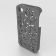 STL Howling Wolf Iphone Case 4 4s, Custom3DPrinting