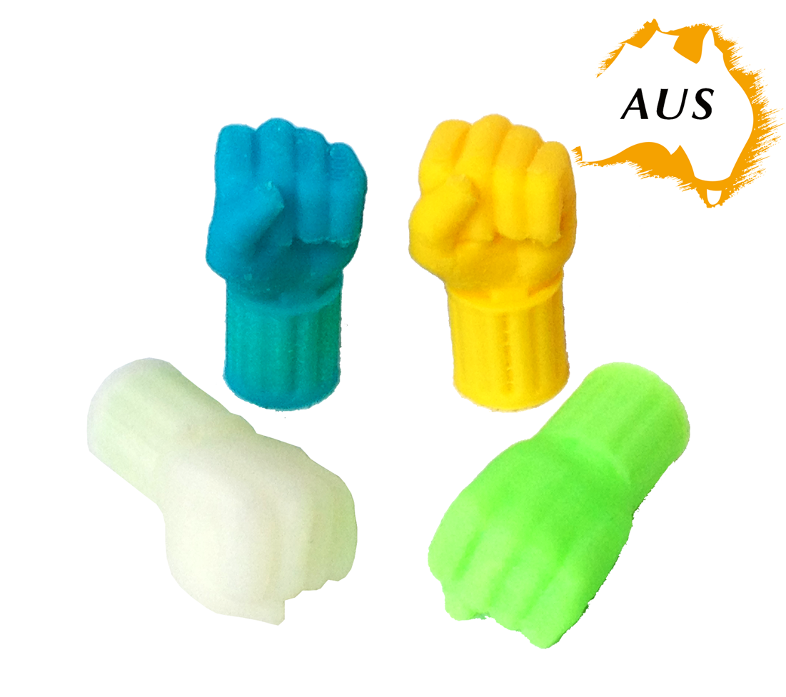 bike-fist-all.png Download STL file Fist Hand Car Truck Bike Van Tire Tyre Wheel Valve Stem Caps Cover • 3D printer design, Custom3DPrinting