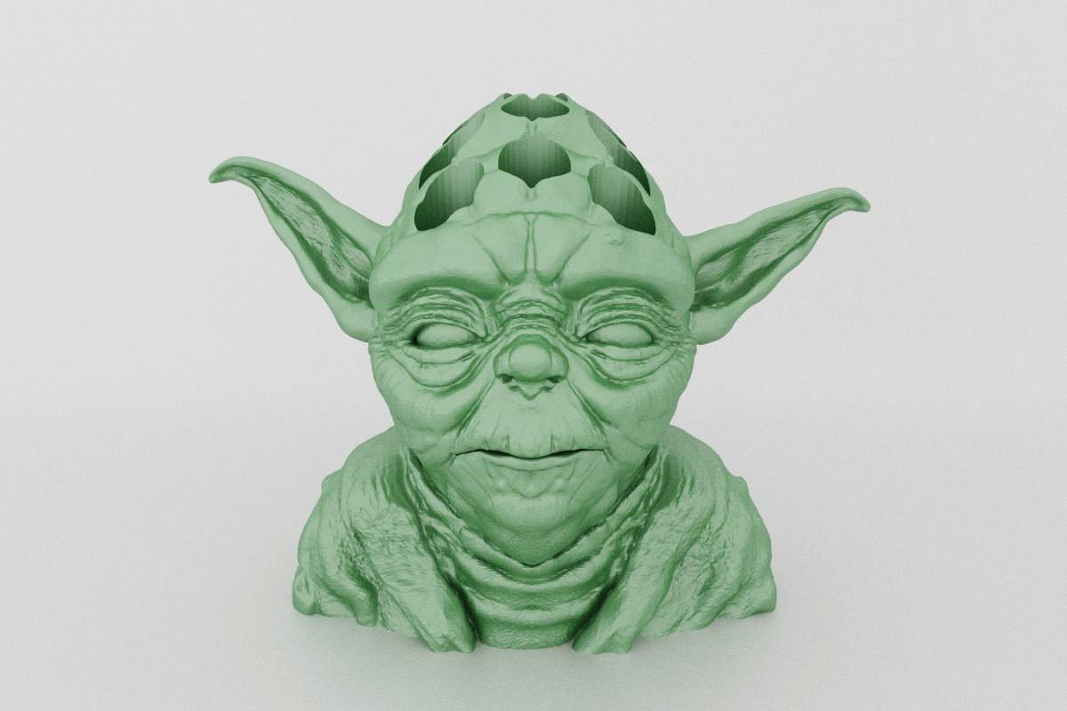 yoda-pen-holder.jpg Download STL file Yoda Pen Holder • 3D printable object, Custom3DPrinting