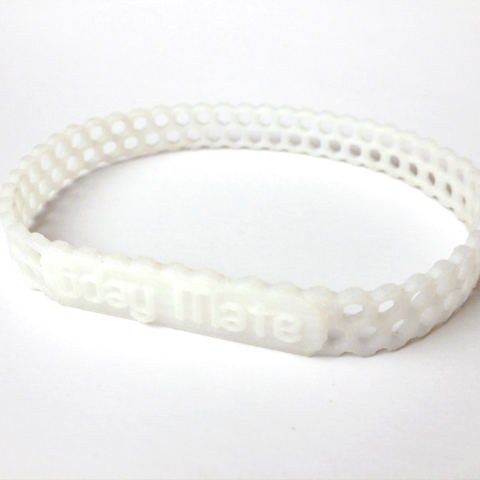 CUSTOM bracelet hex2.png Download STL file Jewelry Pack - Bracelet Wristband Pendant Military Dog Tag Heart • 3D printer model, Custom3DPrinting