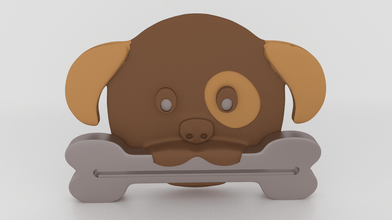 dog paste pusher.png Download STL file Puppy Paste Pusher • 3D printer design, Custom3DPrinting