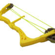 STL files Mini Compound Bow and Arrow, Custom3DPrinting