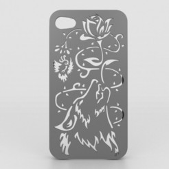 3D print files Howling Wolf Iphone Case 6 6s, Custom3DPrinting