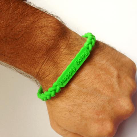 CUSTOM bracelet twist R.png Download STL file Jewelry Pack - Bracelet Wristband Pendant Military Dog Tag Heart • 3D printer model, Custom3DPrinting