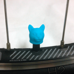 bike-cat-blue.png Download STL file Cat Head Feline Car Truck Bike Tire Tyre Wheel Valve Stem Caps Cover • 3D printable template, Custom3DPrinting
