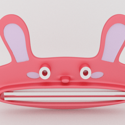 Download free 3D print files Bunny Paste Pusher, Custom3DPrinting