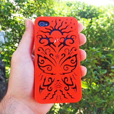 butterfly-Iphone-case-4-4s.jpg Download STL file Butterfly Iphone Case 5 5s • 3D printer model, Custom3DPrinting