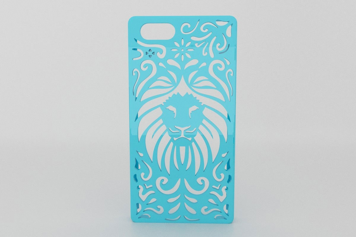 Tribal-Lion-Iphone.jpg Download STL file Tribal Lion Floral Iphone Case 4 4s • 3D printable object, Custom3DPrinting