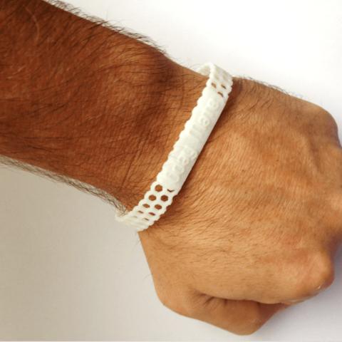 CUSTOM bracelet hex.png Download STL file Jewelry Pack - Bracelet Wristband Pendant Military Dog Tag Heart • 3D printer model, Custom3DPrinting